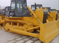 SD08 Shantui Hydraulic Bulldozer Sd08 Mini Bulldozer Cummins Engine, ROPS Cabin Front Blade, Rear Ripper Yellow Color