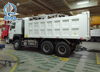 White HOWO 371HP 6 x 4 Heavy Duty Tipper Front Lifting Cylinder