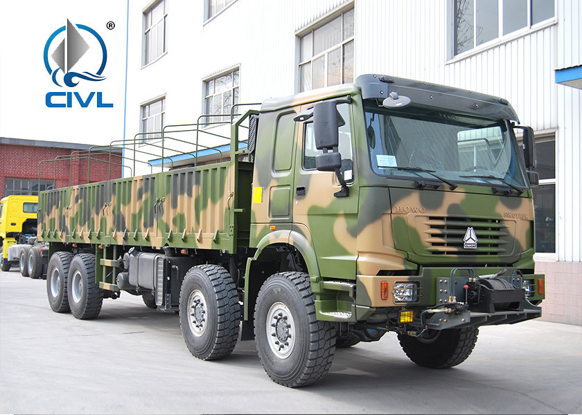 6 X 6  Full Motion Heavy Cargo Trucks With Barrier Bucket And 380HP Engine Strong Axles And Tire euro II/III